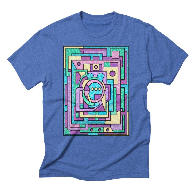 Rabbot Hutch - Brightly Colored Geometric Abstract Art Men's T-Shirt by RML Studios: The Art & Design of Ryan Livingston