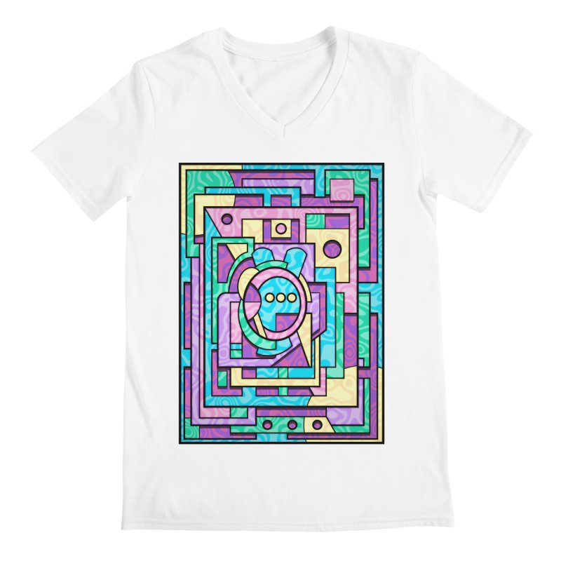 Rabbot Hutch - Brightly Colored Geometric Abstract Art Men's V-Neck by RML Studios: The Art & Design of Ryan Livingston