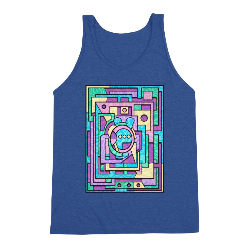 Rabbot Hutch - Brightly Colored Geometric Abstract Art Men's Tank by RML Studios: The Art & Design of Ryan Livingston