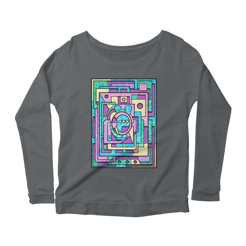 Rabbot Hutch - Brightly Colored Geometric Abstract Art Women's Longsleeve T-Shirt by RML Studios: The Art & Design of Ryan Livingston