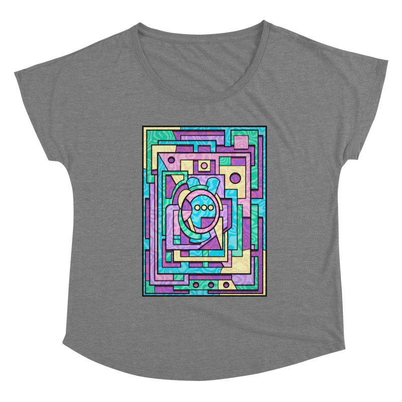Rabbot Hutch - Brightly Colored Geometric Abstract Art Women's Scoop Neck by RML Studios: The Art & Design of Ryan Livingston