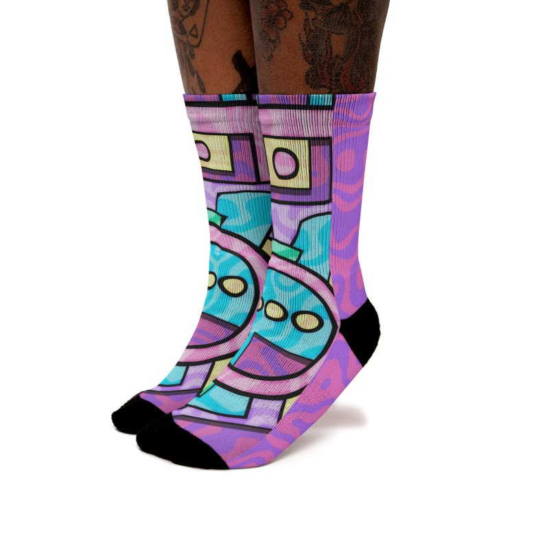 Rabbot Hutch - Brightly Colored Geometric Abstract Art Women's Socks by RML Studios: The Art & Design of Ryan Livingston