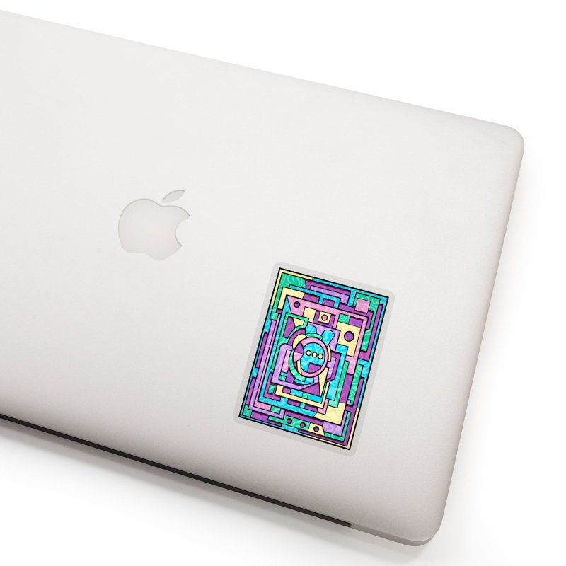 Rabbot Hutch - Brightly Colored Geometric Abstract Art Accessories Sticker by RML Studios: The Art & Design of Ryan Livingston