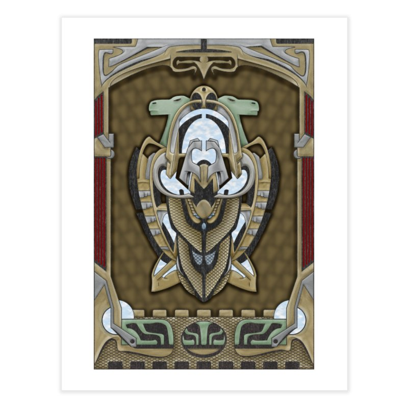 Claddagh Hawk - Celtic Inspired Art Deco Home Fine Art Print by RML Studios: The Art & Design of Ryan Livingston