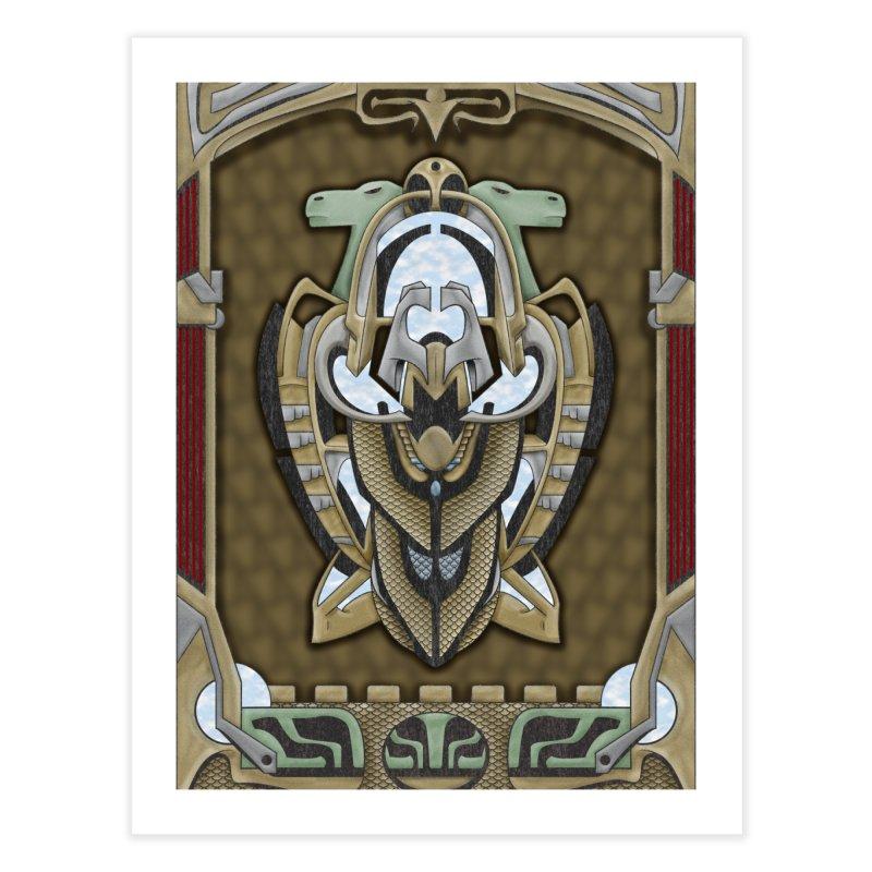 Claddagh Hawk - Celtic Inspired Art Deco Home Fine Art Print by RML Studios: The Art & Design of Ryan Livingston