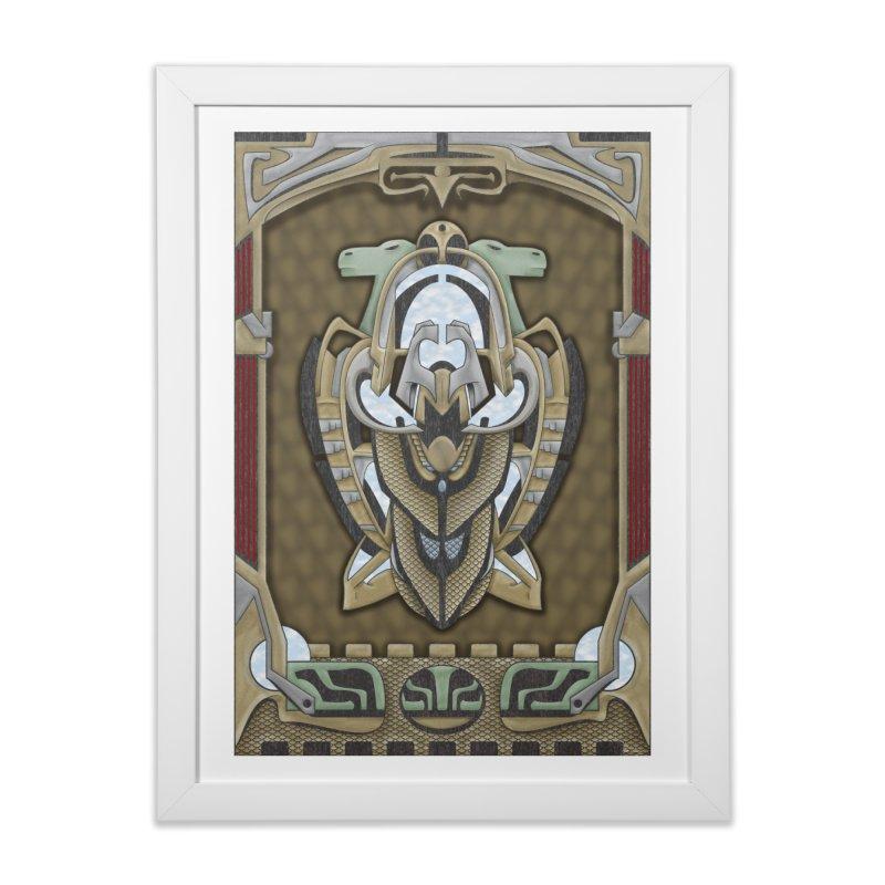 Claddagh Hawk - Celtic Inspired Art Deco Home Framed Fine Art Print by RML Studios: The Art & Design of Ryan Livingston