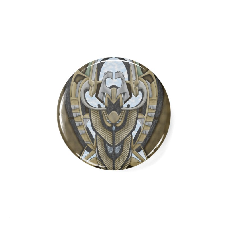 Claddagh Hawk - Celtic Inspired Art Deco Accessories Button by RML Studios: The Art & Design of Ryan Livingston