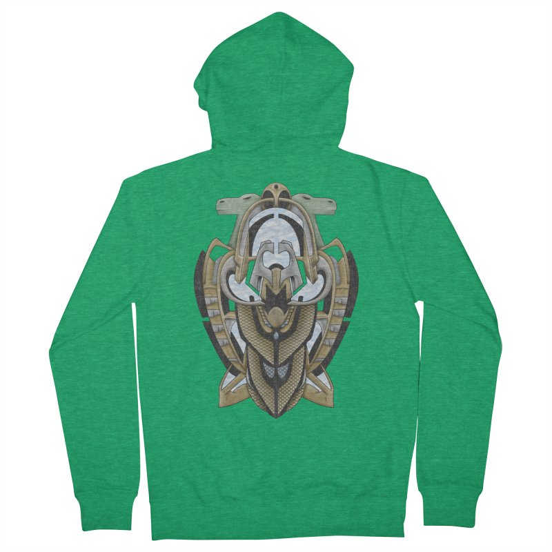 Claddagh Hawk - Celtic Inspired Art Deco Women's Zip-Up Hoody by RML Studios: The Art & Design of Ryan Livingston