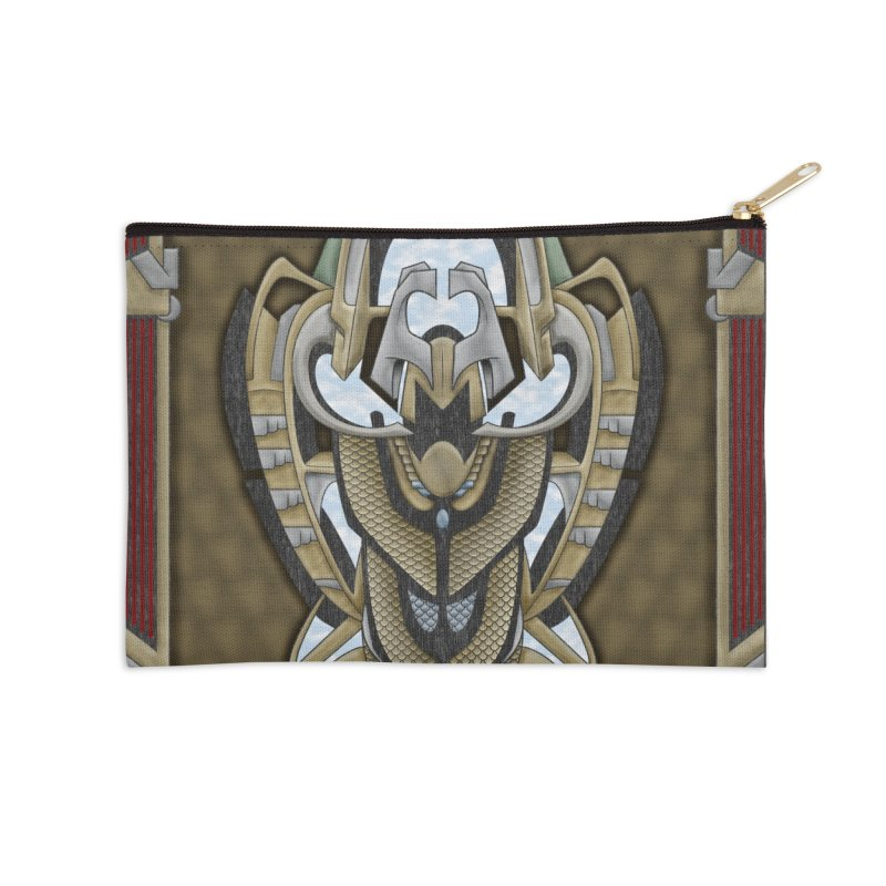 Claddagh Hawk - Celtic Inspired Art Deco Accessories Zip Pouch by RML Studios: The Art & Design of Ryan Livingston
