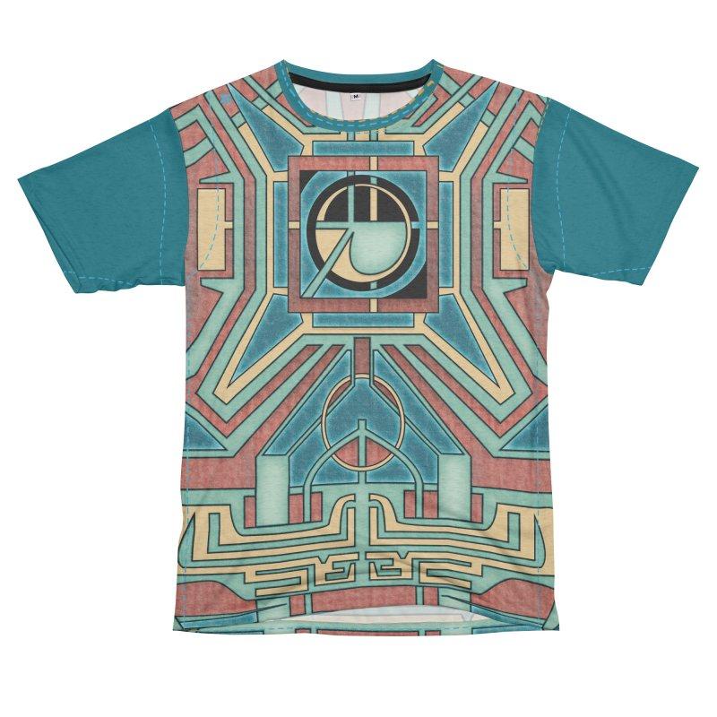 Ancient Guardian - Mesoamerican Inspired Art Deco Men's Cut & Sew by RML Studios: The Art & Design of Ryan Livingston