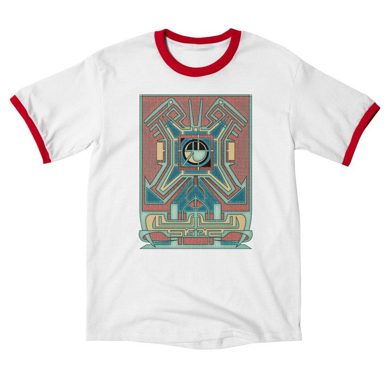 Ancient Guardian - Mesoamerican Inspired Art Deco Men's T-Shirt by RML Studios: The Art & Design of Ryan Livingston