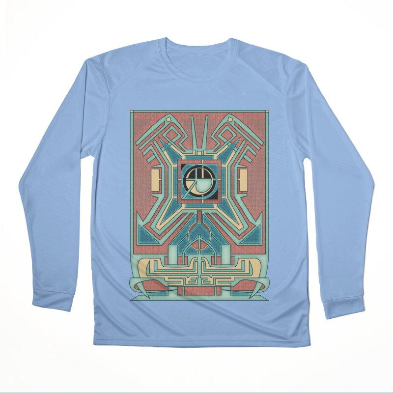 Ancient Guardian - Mesoamerican Inspired Art Deco Men's Longsleeve T-Shirt by RML Studios: The Art & Design of Ryan Livingston