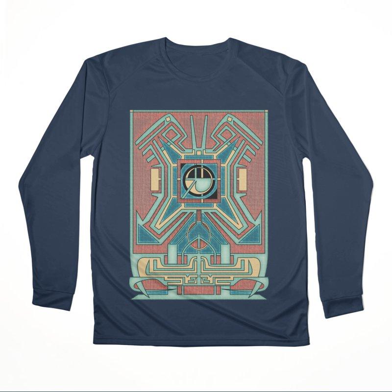 Ancient Guardian - Mesoamerican Inspired Art Deco Women's Longsleeve T-Shirt by RML Studios: The Art & Design of Ryan Livingston