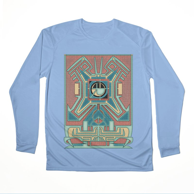 Ancient Guardian - Mesoamerican Inspired Art Deco Women's Longsleeve T-Shirt by RML Studios: The Art & Design of Ryan Livingston
