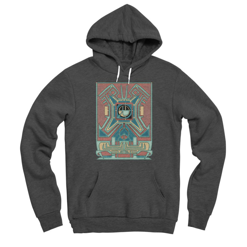Ancient Guardian - Mesoamerican Inspired Art Deco Men's Pullover Hoody by RML Studios: The Art & Design of Ryan Livingston
