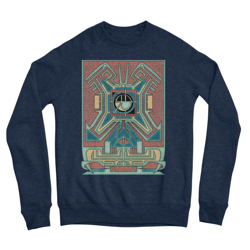 Ancient Guardian - Mesoamerican Inspired Art Deco Men's Sweatshirt by RML Studios: The Art & Design of Ryan Livingston