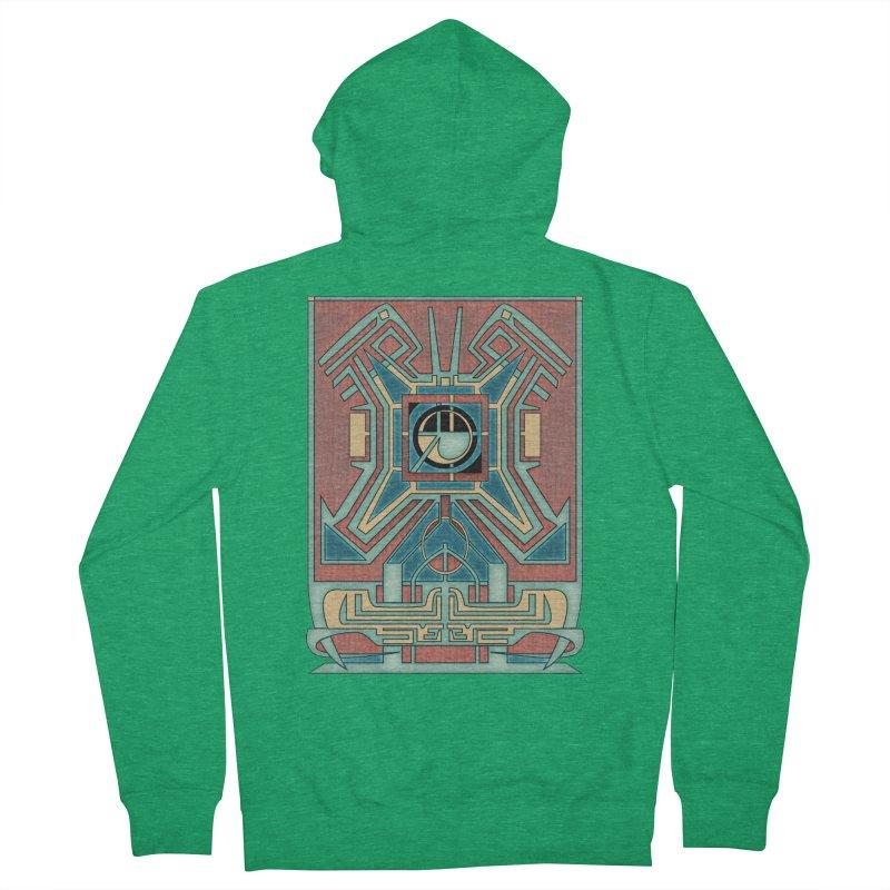 Ancient Guardian - Mesoamerican Inspired Art Deco Men's Zip-Up Hoody by RML Studios: The Art & Design of Ryan Livingston