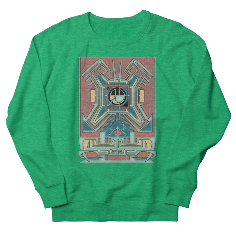 Ancient Guardian - Mesoamerican Inspired Art Deco Women's Sweatshirt by RML Studios: The Art & Design of Ryan Livingston