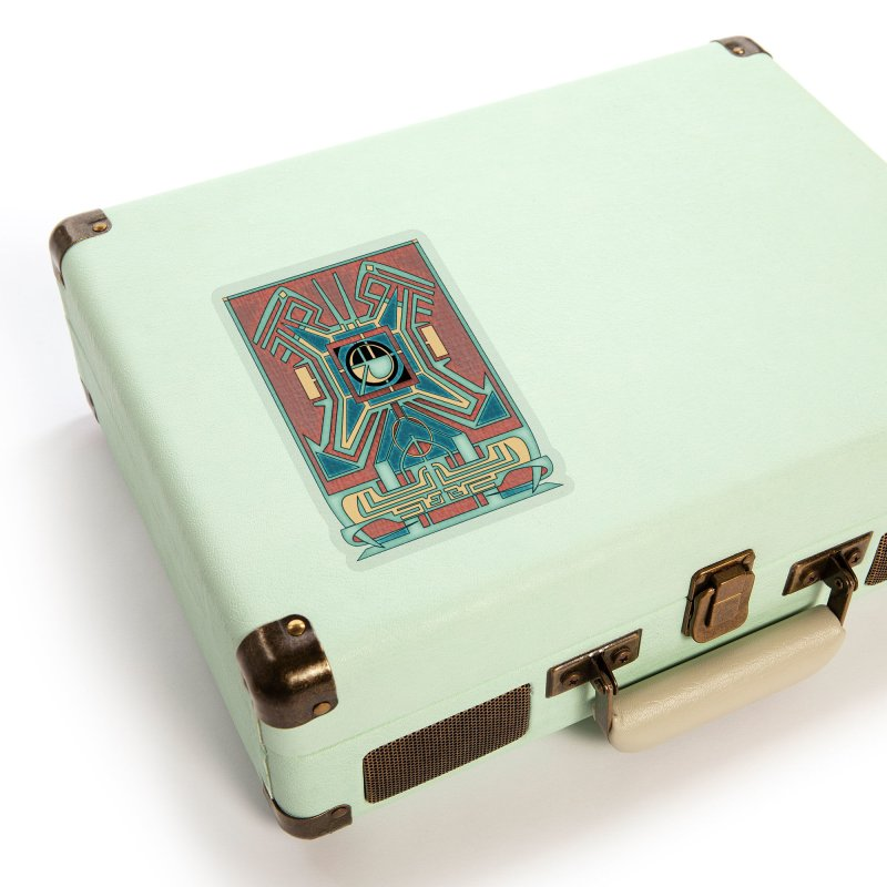 Ancient Guardian - Mesoamerican Inspired Art Deco Accessories Sticker by RML Studios: The Art & Design of Ryan Livingston