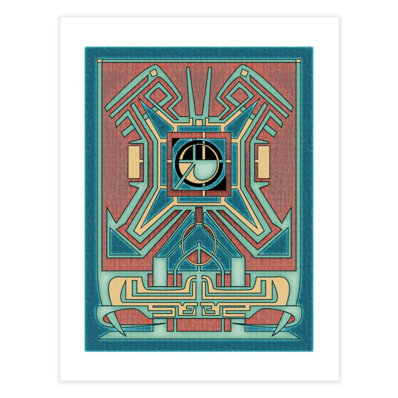 Ancient Guardian - Mesoamerican Inspired Art Deco Home Fine Art Print by RML Studios: The Art & Design of Ryan Livingston
