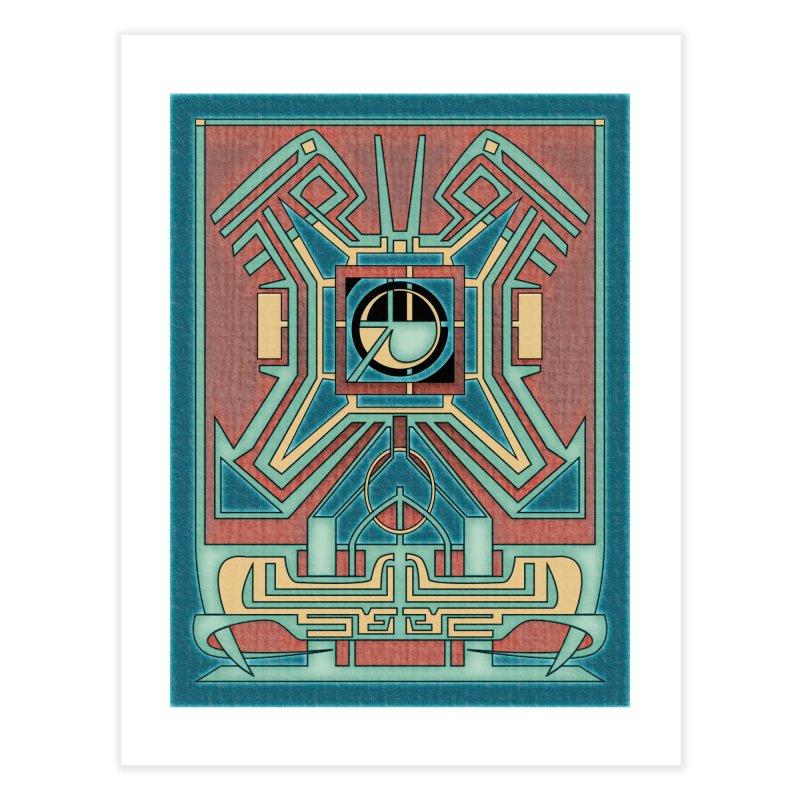 Ancient Guardian - Mesoamerican Inspired Art Deco Home Fine Art Print by RML Studios: The Art & Design of Ryan Livingston