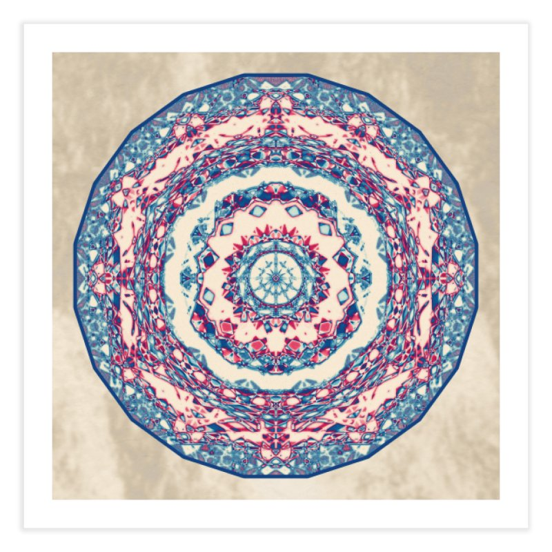 Dutchesque Mandala - Pastel Abstract Boho Design Home Fine Art Print by RML Studios: The Art & Design of Ryan Livingston