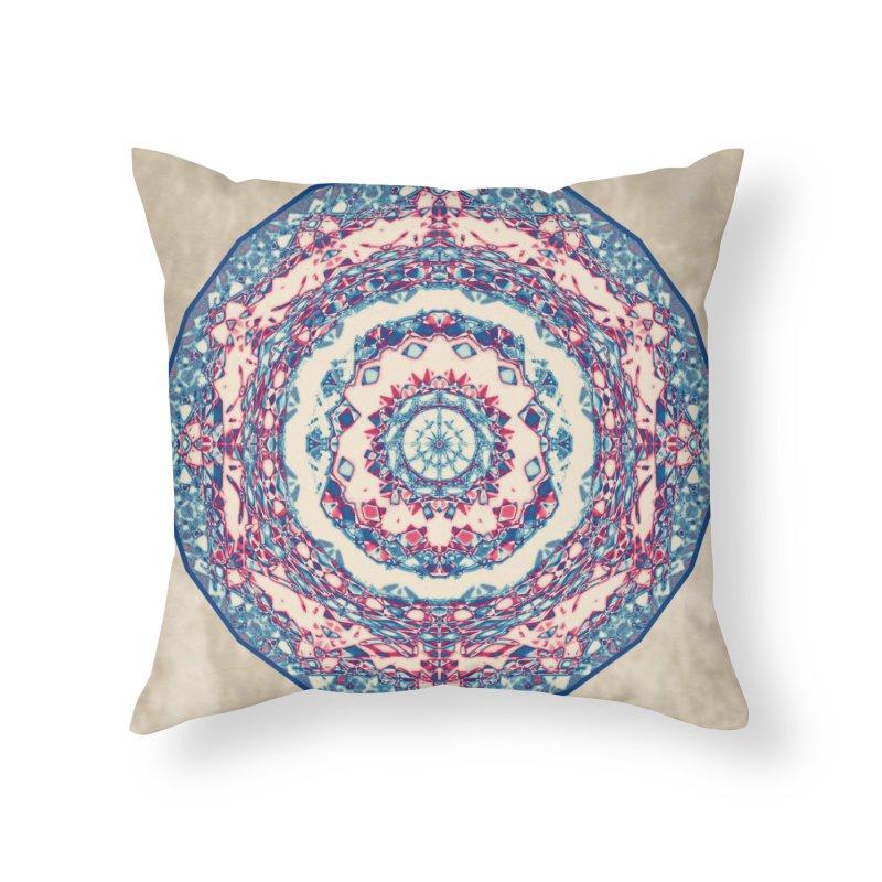 Dutchesque Mandala - Pastel Abstract Boho Design Home Throw Pillow by RML Studios: The Art & Design of Ryan Livingston