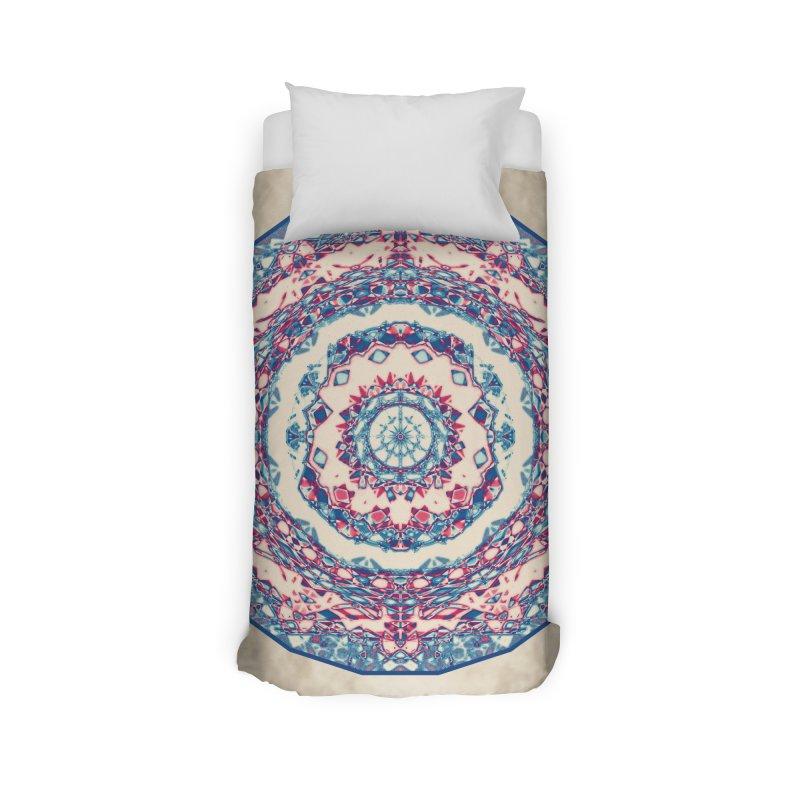 Dutchesque Mandala - Pastel Abstract Boho Design Home Duvet by RML Studios: The Art & Design of Ryan Livingston