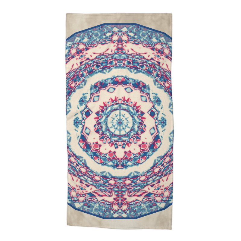 Dutchesque Mandala - Pastel Abstract Boho Design Accessories Beach Towel by RML Studios: The Art & Design of Ryan Livingston