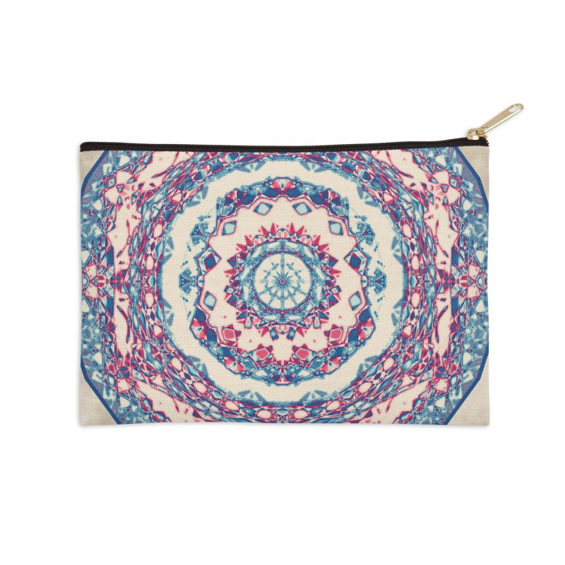 Dutchesque Mandala - Pastel Abstract Boho Design Accessories Zip Pouch by RML Studios: The Art & Design of Ryan Livingston