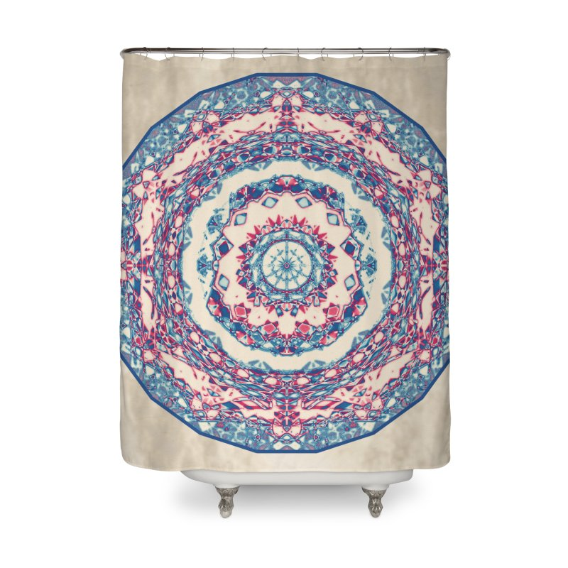 Dutchesque Mandala - Pastel Abstract Boho Design Home Shower Curtain by RML Studios: The Art & Design of Ryan Livingston