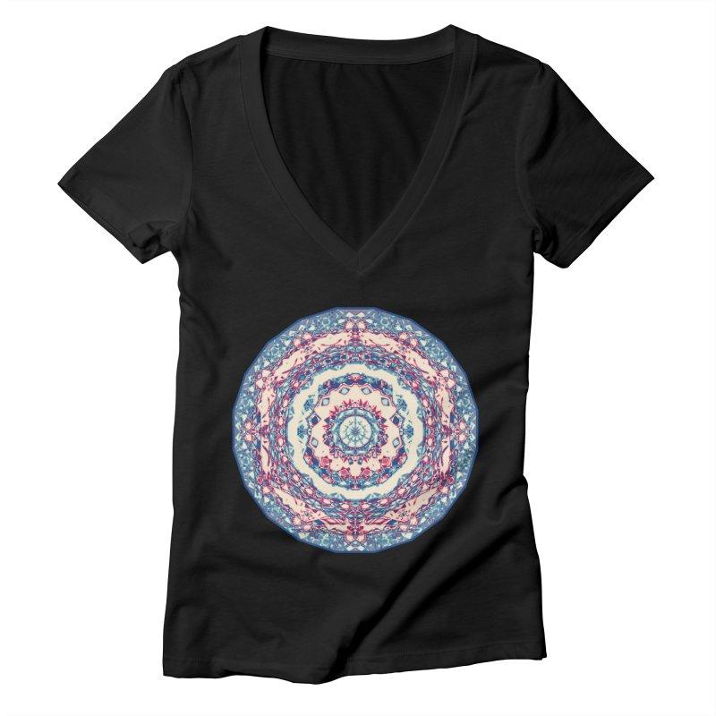 Dutchesque Mandala - Pastel Abstract Boho Design Women's V-Neck by RML Studios: The Art & Design of Ryan Livingston