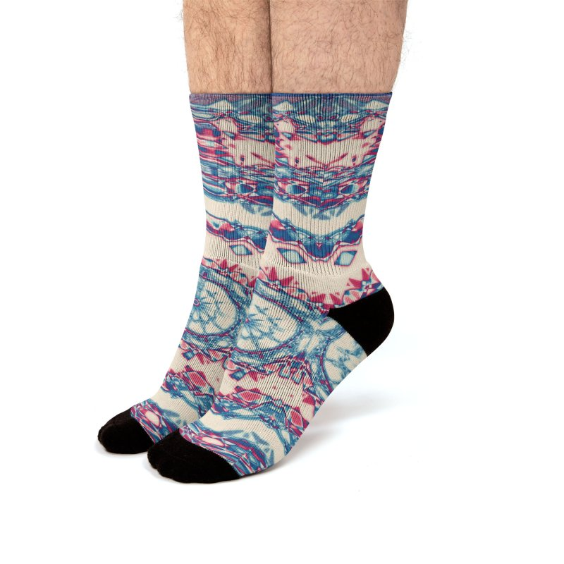 Dutchesque Mandala - Pastel Abstract Boho Design Men's Socks by RML Studios: The Art & Design of Ryan Livingston