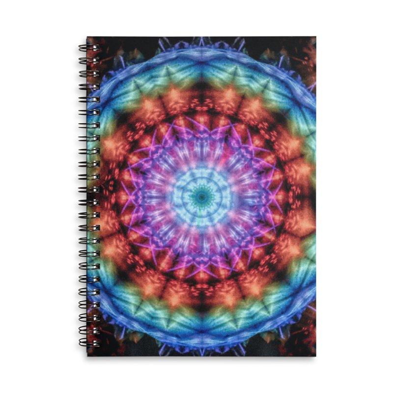 Plasmagoria -  Tie Dye Psychedelic Mandala Accessories Notebook by RML Studios: The Art & Design of Ryan Livingston