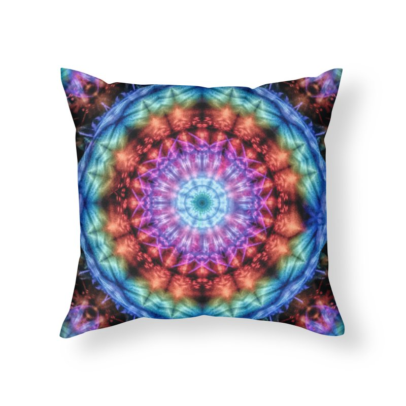 Plasmagoria -  Tie Dye Psychedelic Mandala Home Throw Pillow by RML Studios: The Art & Design of Ryan Livingston