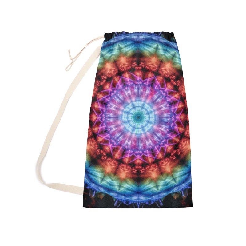 Plasmagoria -  Tie Dye Psychedelic Mandala Accessories Bag by RML Studios: The Art & Design of Ryan Livingston