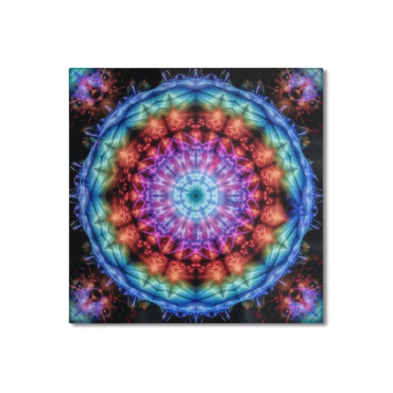 Plasmagoria -  Tie Dye Psychedelic Mandala Home Mounted Aluminum Print by RML Studios: The Art & Design of Ryan Livingston