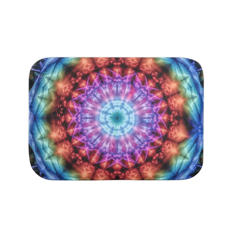 Plasmagoria -  Tie Dye Psychedelic Mandala Home Bath Mat by RML Studios: The Art & Design of Ryan Livingston