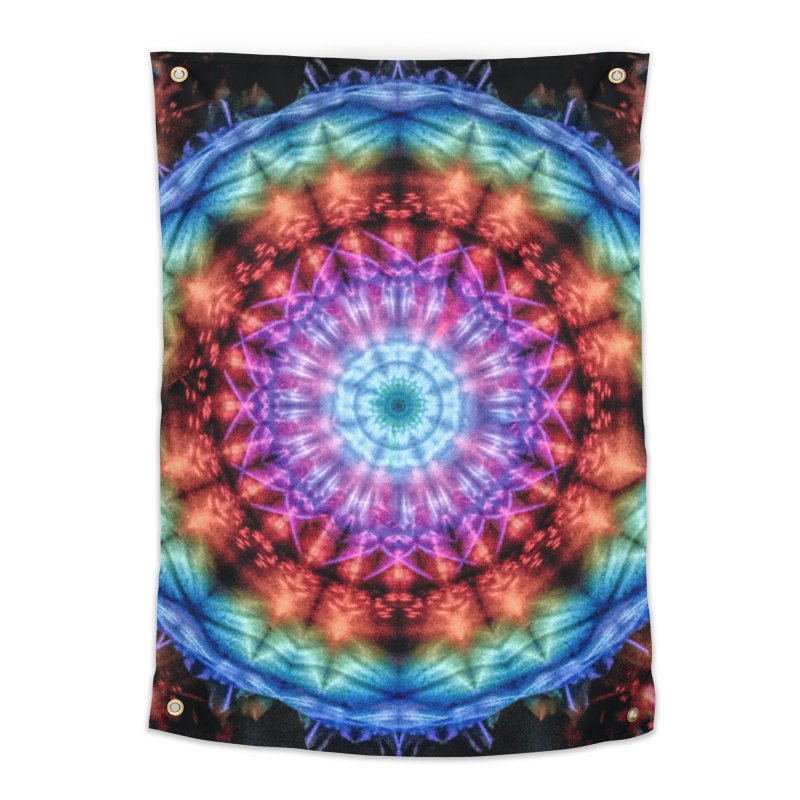 Plasmagoria -  Tie Dye Psychedelic Mandala Home Tapestry by RML Studios: The Art & Design of Ryan Livingston