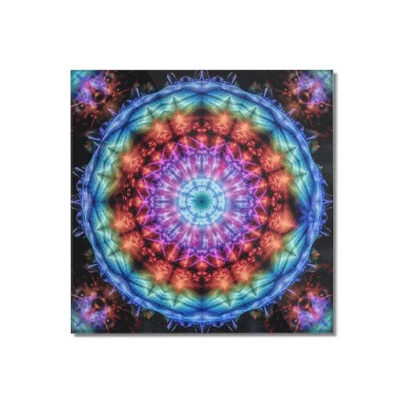 Plasmagoria -  Tie Dye Psychedelic Mandala Home Mounted Acrylic Print by RML Studios: The Art & Design of Ryan Livingston