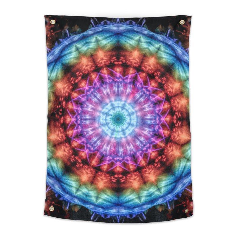 Plasmagoria -  Tie Dye Psychedelic Mandala Home Tapestry by RML Studios: The Art & Design of Ryan Livingston
