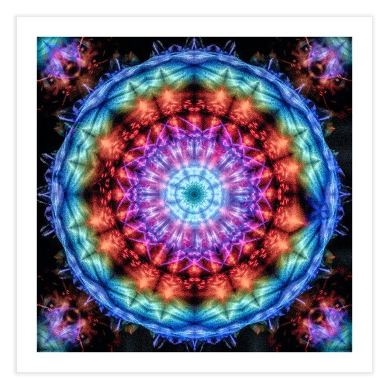 Plasmagoria -  Tie Dye Psychedelic Mandala Home Fine Art Print by RML Studios: The Art & Design of Ryan Livingston