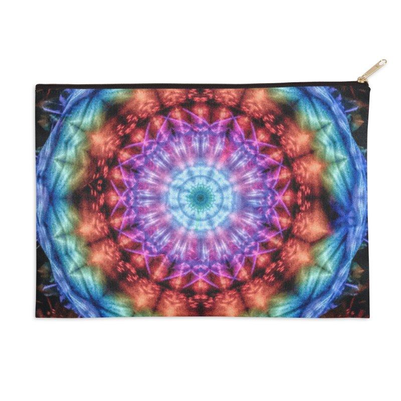 Plasmagoria -  Tie Dye Psychedelic Mandala Accessories Zip Pouch by RML Studios: The Art & Design of Ryan Livingston