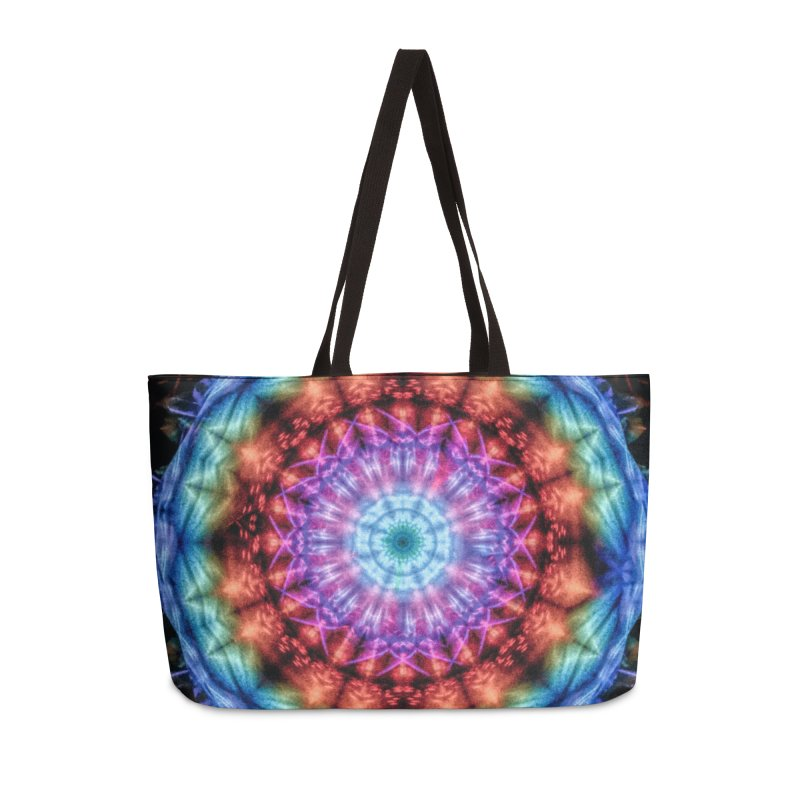 Plasmagoria -  Tie Dye Psychedelic Mandala Accessories Bag by RML Studios: The Art & Design of Ryan Livingston
