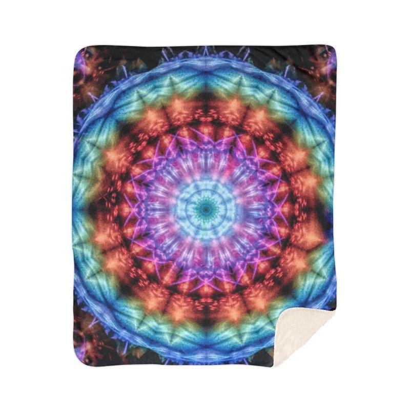 Plasmagoria -  Tie Dye Psychedelic Mandala Home Blanket by RML Studios: The Art & Design of Ryan Livingston