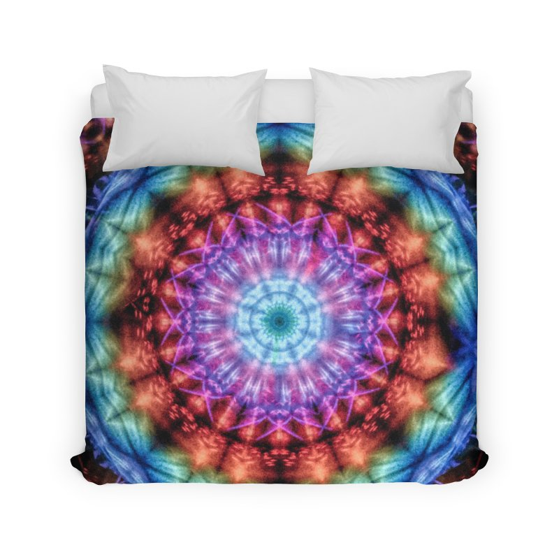 Plasmagoria -  Tie Dye Psychedelic Mandala Home Duvet by RML Studios: The Art & Design of Ryan Livingston