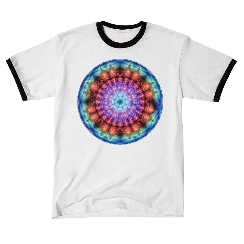Plasmagoria -  Tie Dye Psychedelic Mandala Men's T-Shirt by RML Studios: The Art & Design of Ryan Livingston