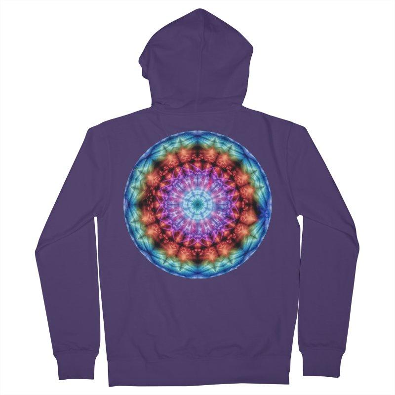 Plasmagoria -  Tie Dye Psychedelic Mandala Women's Zip-Up Hoody by RML Studios: The Art & Design of Ryan Livingston