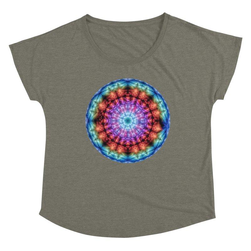 Plasmagoria -  Tie Dye Psychedelic Mandala Women's Scoop Neck by RML Studios: The Art & Design of Ryan Livingston