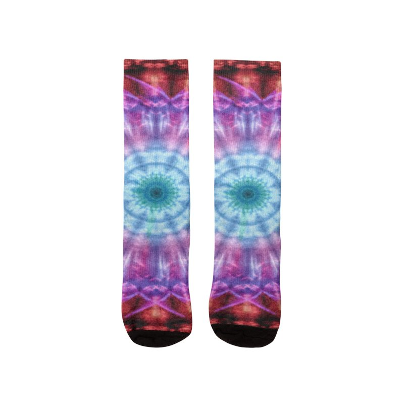 Plasmagoria -  Tie Dye Psychedelic Mandala Women's Socks by RML Studios: The Art & Design of Ryan Livingston